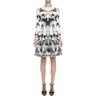 ALEXANDER MCQUEEN, Mini Dress, Belle Epoque Jacquard Knit Dress