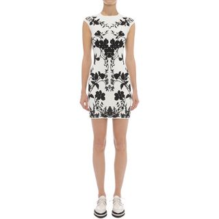 ALEXANDER MCQUEEN, Mini Dress, Belle Epoque Jacquard Knit Mini Pencil Dress