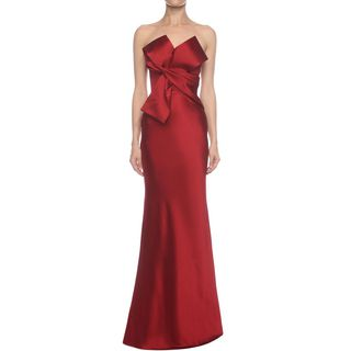ALEXANDER MCQUEEN, Long Dress, Long Bow Bustier Dress