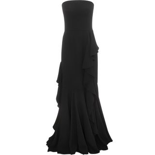 ALEXANDER MCQUEEN, Long Dress, Long Bustier Drape Dress