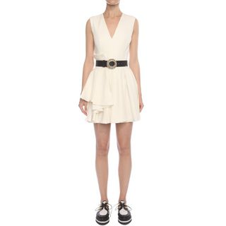 ALEXANDER MCQUEEN, Mini Dress, Fold Pleat Mini Dress