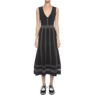 ALEXANDER MCQUEEN, Mid-length Dress, Long Flute Sleeveless Dress