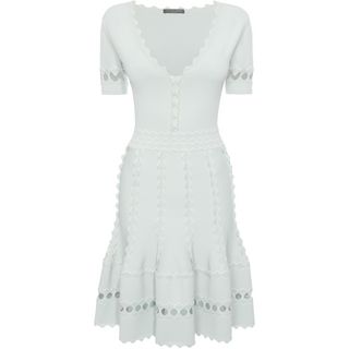 ALEXANDER MCQUEEN, Mini Dress, Flute Sleeveless Mini Dress