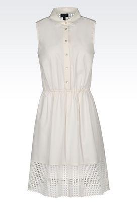 Armani 3/4 Length Dresses Women shirt dress in poplin