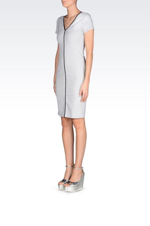 COTTON DRESS: 3/4 Length dresses Women by Armani - 3