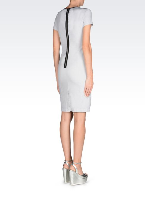 COTTON DRESS: 3/4 Length dresses Women by Armani - 4