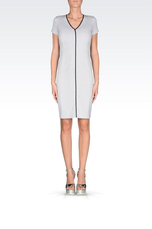 COTTON DRESS: 3/4 Length dresses Women by Armani - 2