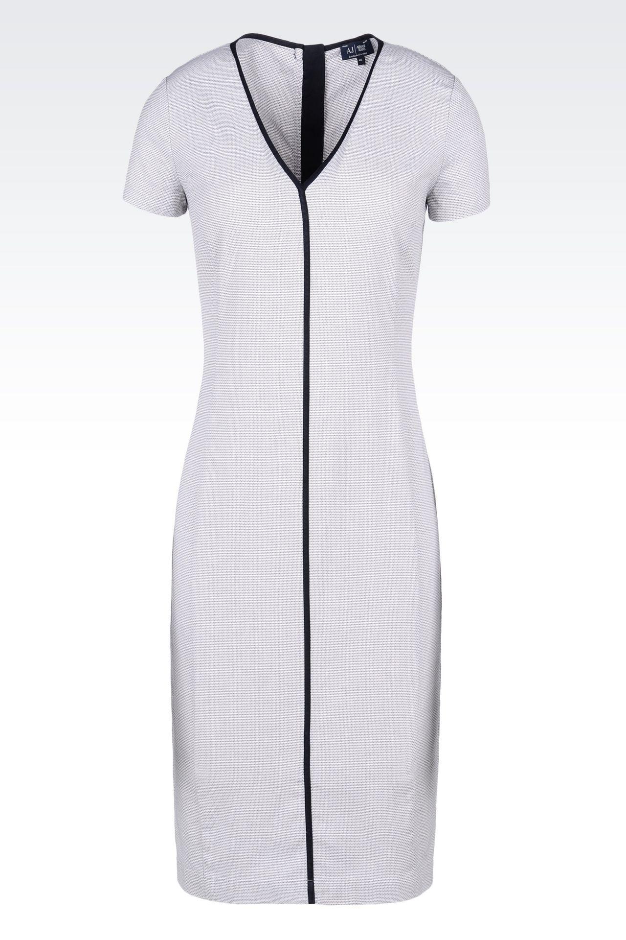COTTON DRESS: 3/4 Length dresses Women by Armani - 0