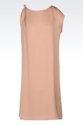 Armani One-shoulder dresses Women satin dress