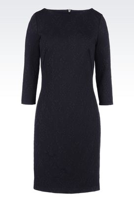 Armani Long-sleeved dresses Women dress in jacquard jersey