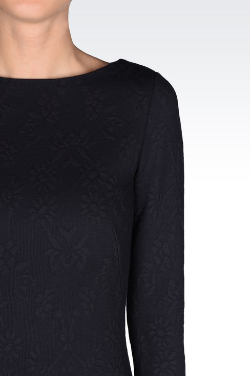 DRESS IN JACQUARD JERSEY: Long-sleeved dresses Women by Armani - 5