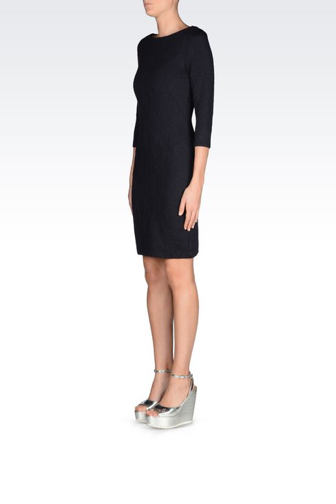 DRESS IN JACQUARD JERSEY: Long-sleeved dresses Women by Armani - 3