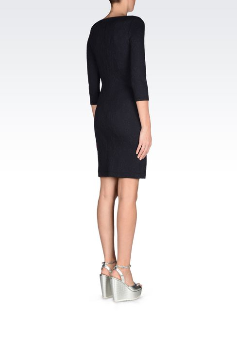 DRESS IN JACQUARD JERSEY: Long-sleeved dresses Women by Armani - 4