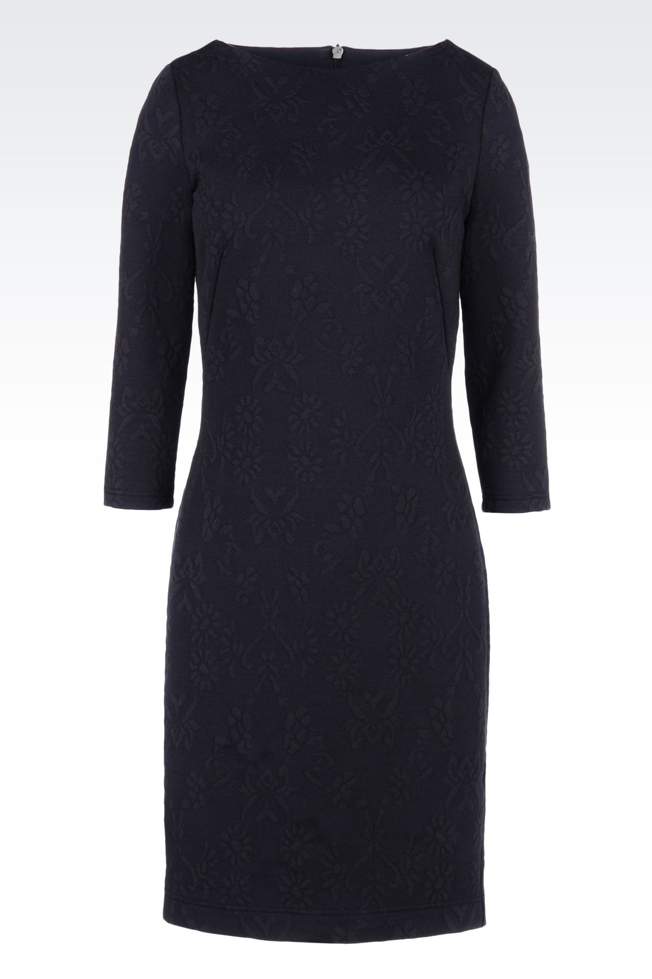 DRESS IN JACQUARD JERSEY: Long-sleeved dresses Women by Armani - 0