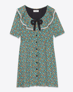 Schoolgirl Dress in Multicolor Prairie Printed Viscose
