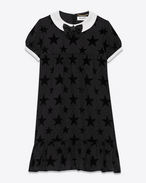 Babydoll Dress in Star and Polka Dot Polyester and Viscose