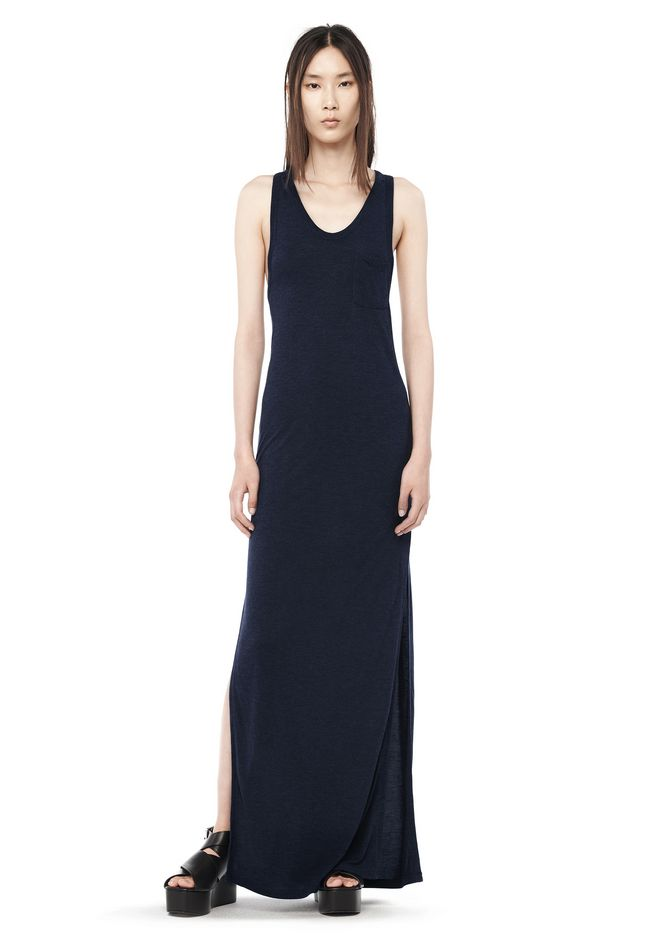 T by ALEXANDER WANG resort-2016 CLASSIC TANK DRESS WITH POCKET