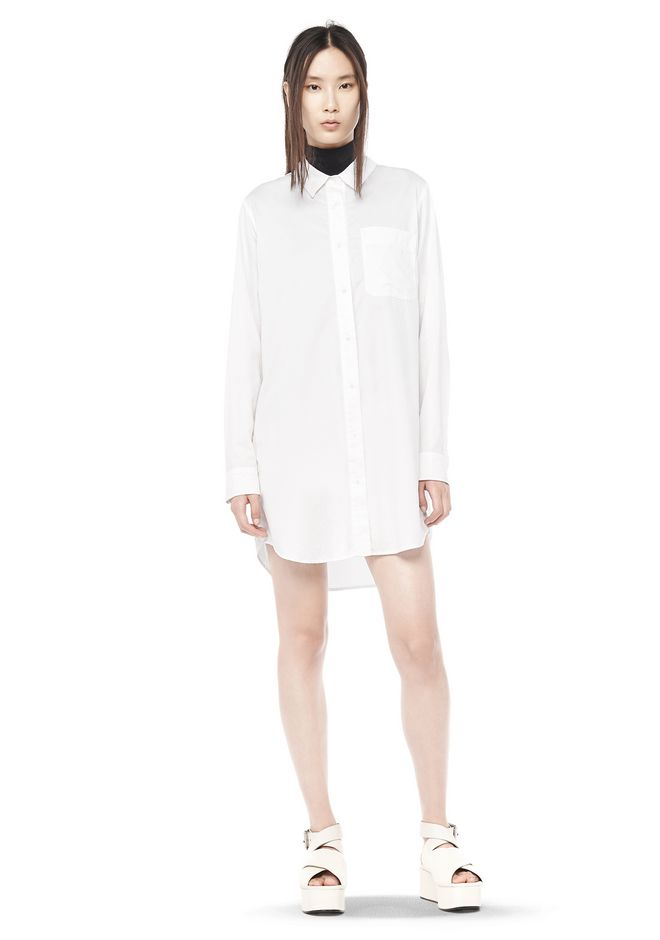 T by ALEXANDER WANG resort-2016 COTTON POPLIN SHIRT DRESS