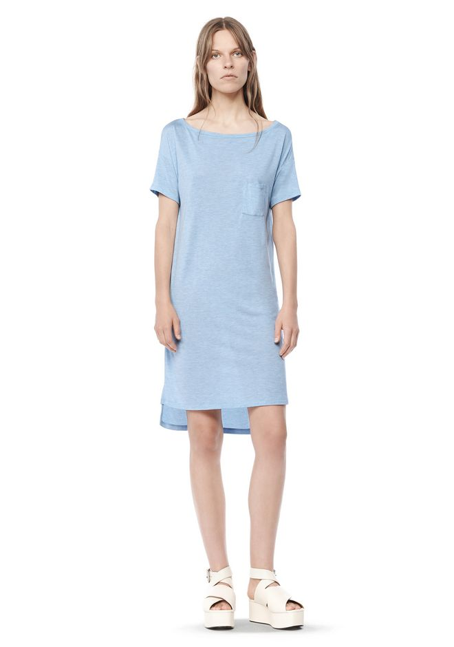 T by ALEXANDER WANG resort-2016 CLASSIC BOATNECK DRESS WITH POCKET