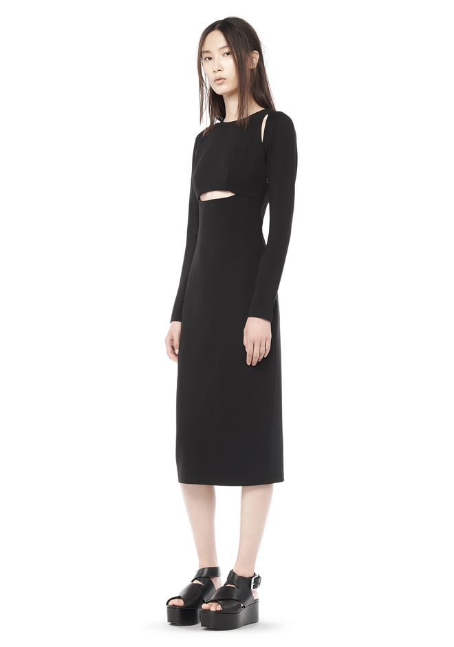 T by ALEXANDER WANG resort-2016 CUT OUT LONG SLEEVE DRESS