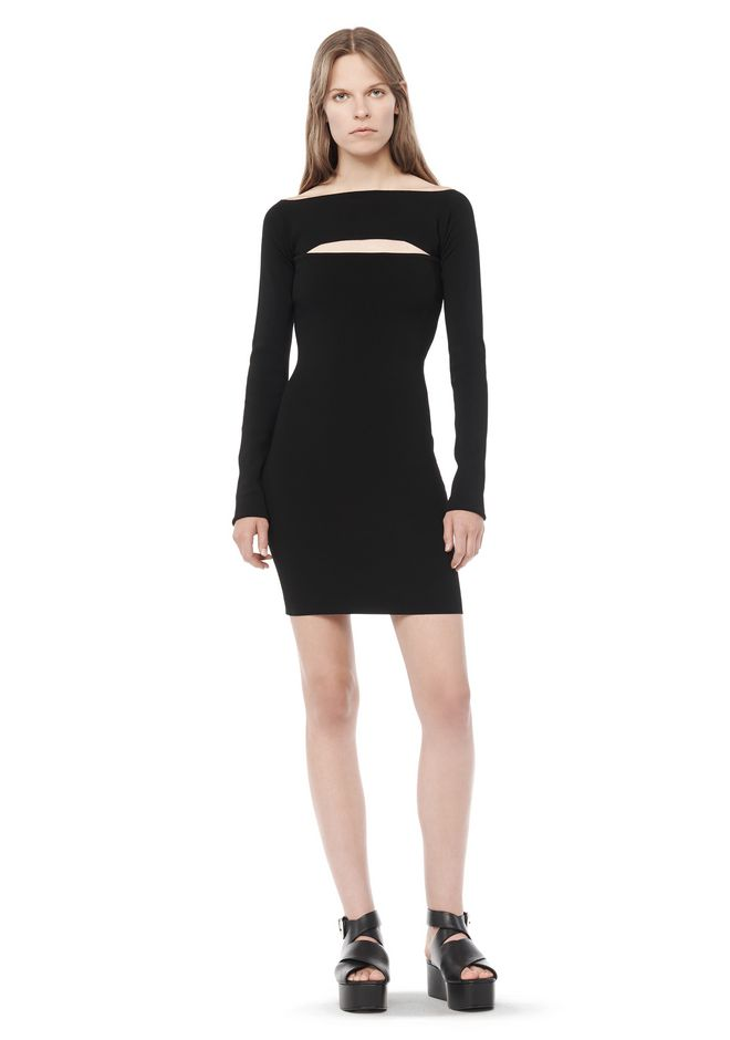 T by ALEXANDER WANG resort-2016 LONG SLEEVE BANDEAU DRESS