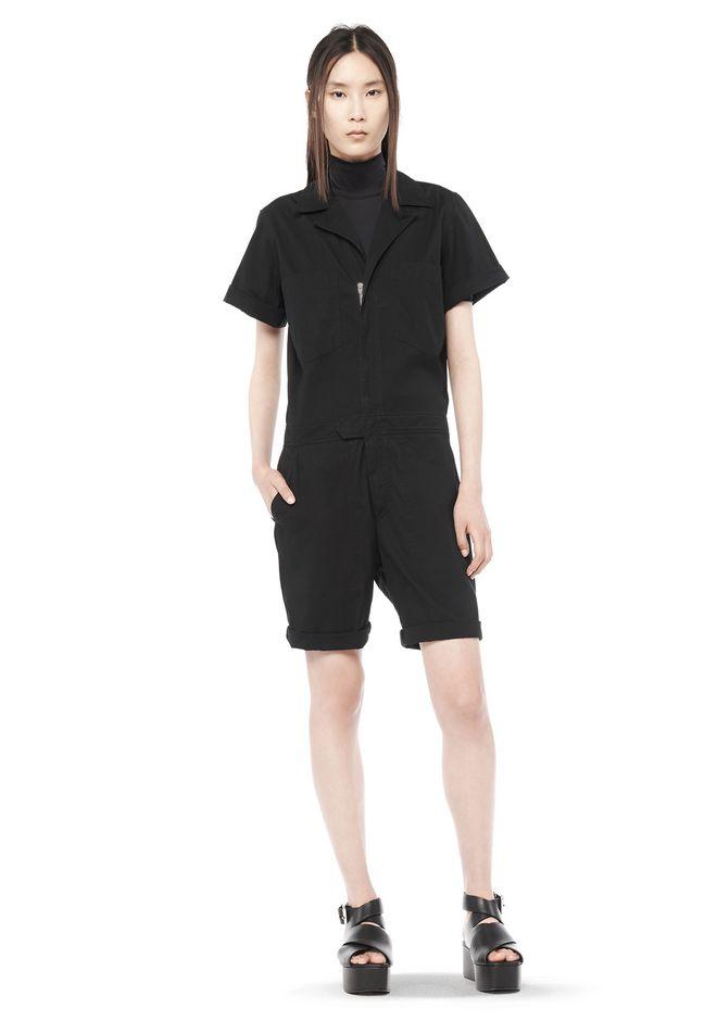 T by ALEXANDER WANG Short Dresses Women NYLON SHORT SLEEVE COLLARED FLIGHT SUIT