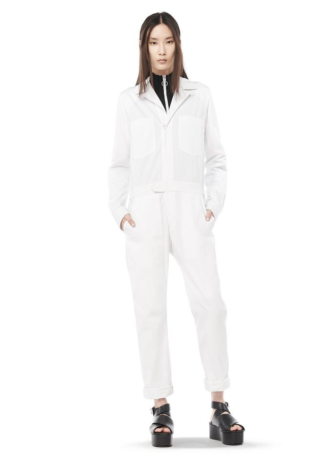 T by ALEXANDER WANG resort-2016 NYLON LONG SLEEVE COLLARED FLIGHT SUIT