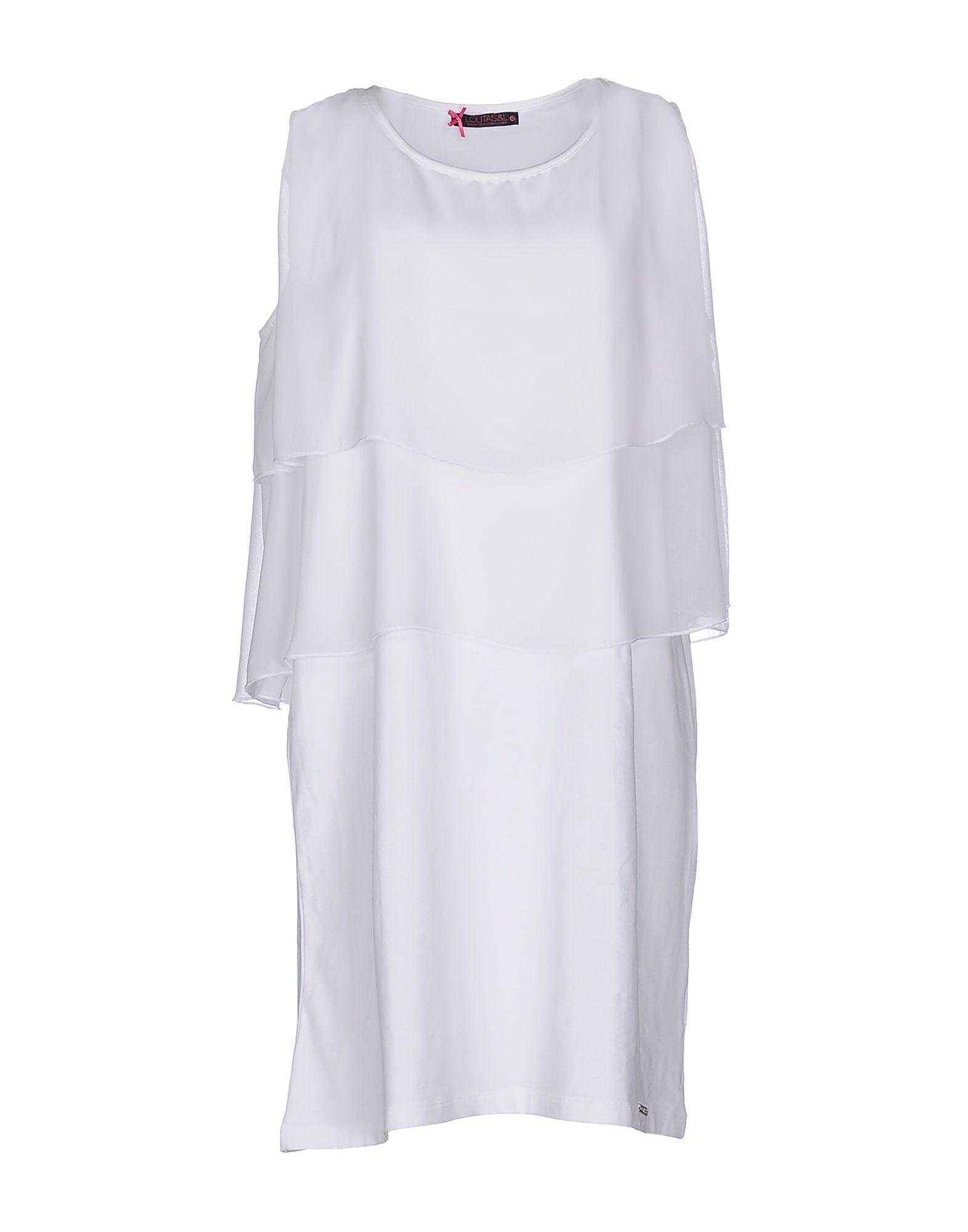 LOLITA & LOLOS Damen Kurzes Kleid Farbe Weiß Größe 4