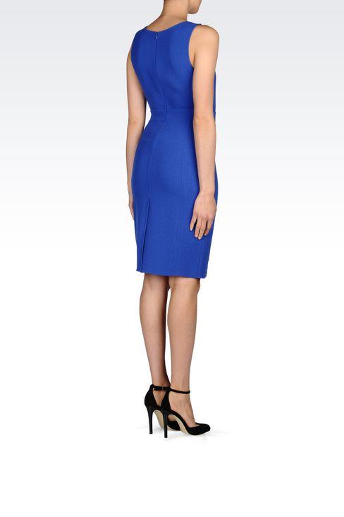 DRESS IN CRÊPE: Short Dresses Women by Armani - 4