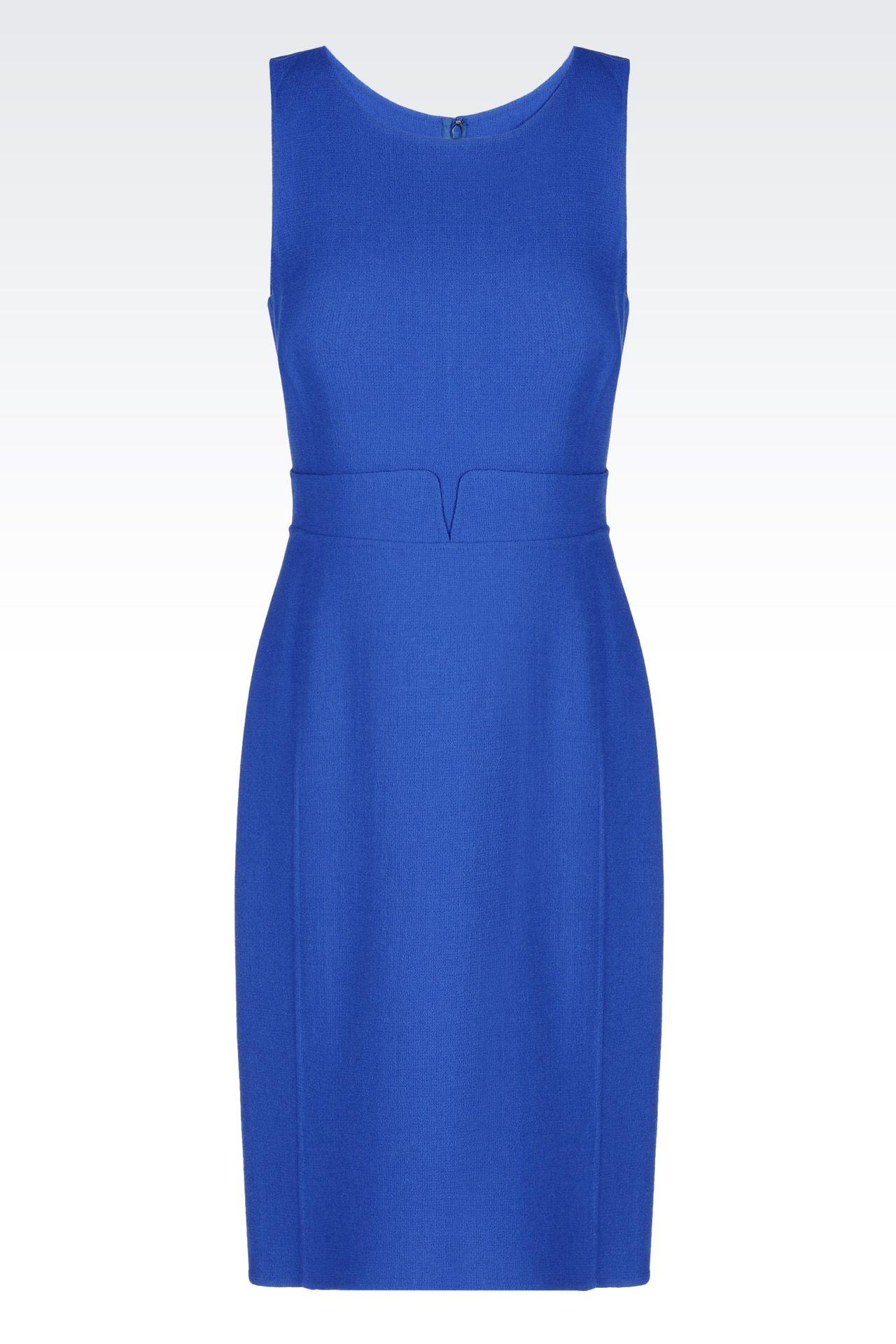 DRESS IN CRÊPE: Short Dresses Women by Armani - 0