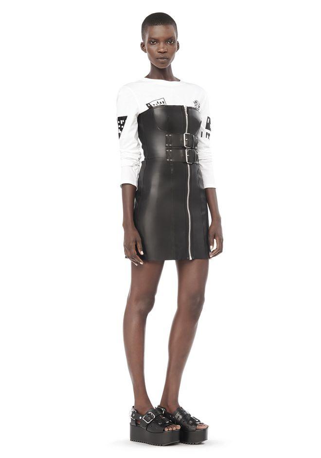 ALEXANDER WANG Short Dresses Women BUSTIER MINI DRESS WITH DOUBLE BELT WAISTBAND