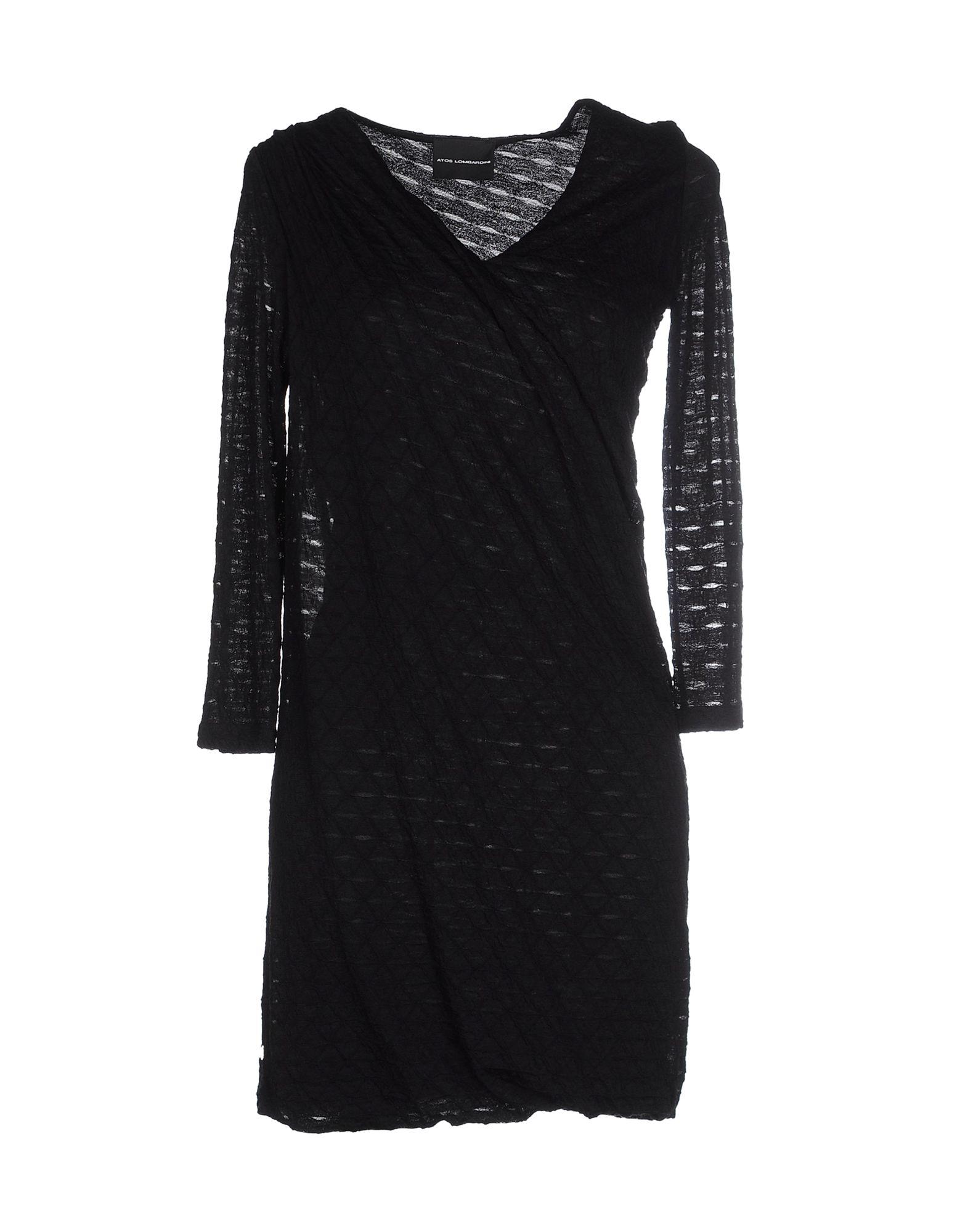 ATOS LOMBARDINI Damen Kurzes Kleid Farbe Schwarz Größe 3