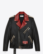 Motorcycle Dégradé Sunset Jacket in Black, Multicolor and Silver Leather