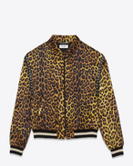 TEDDY Jacket in Yellow and Black Punk Leopard Printed Viscose
