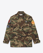 Military Jacket in Vintage Camouflage Cotton