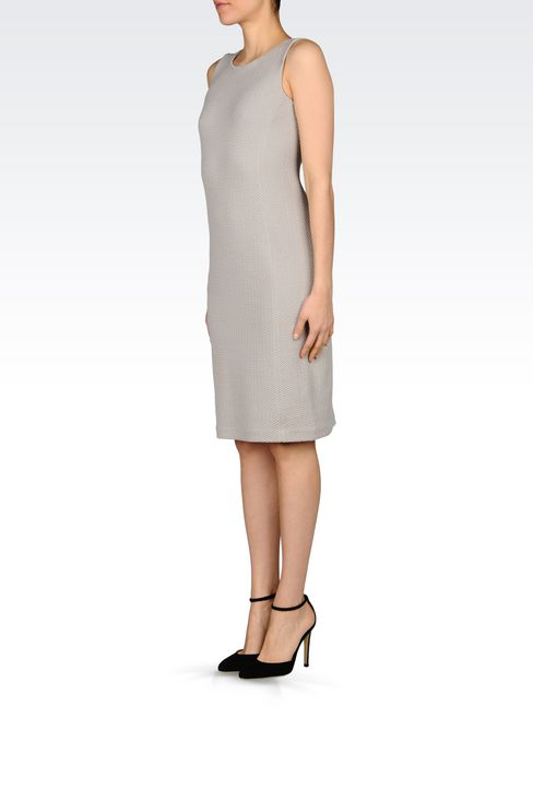 DRESS IN JACQUARD: 3/4 Length Dresses Women by Armani - 3