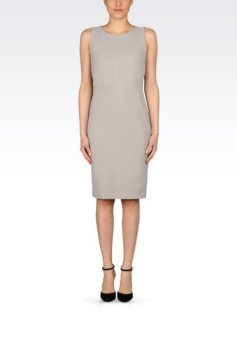DRESS IN JACQUARD: 3/4 Length Dresses Women by Armani - 2