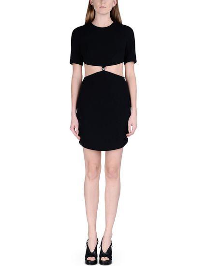 MUGLER SHORT DRESS, BLACK