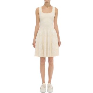 ALEXANDER MCQUEEN, Mid-length Dress, Sleeveless Corset Neck Dress