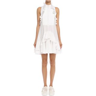 ALEXANDER MCQUEEN, Mini Dress, Halterneck Ruffle Dress