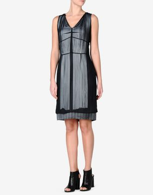 Maison Margiela Fringed knee-length sheath dress