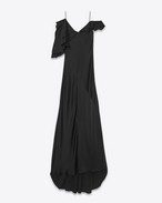 Lingerie Evening Dress in Black Satin