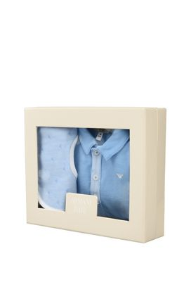 Armani Gift sets Men all-in-one and bib set in cotton