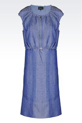 Armani Dresses Women vest dress in jacquard