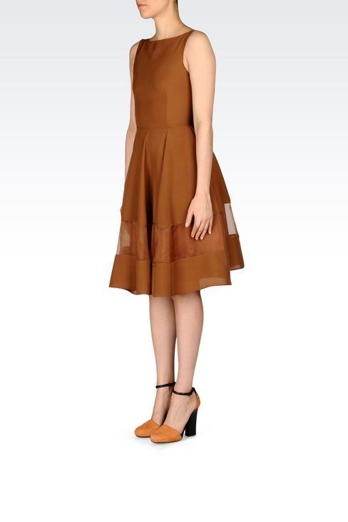 DRESS IN LIGHT CADY: 3/4 Length dresses Women by Armani - 3