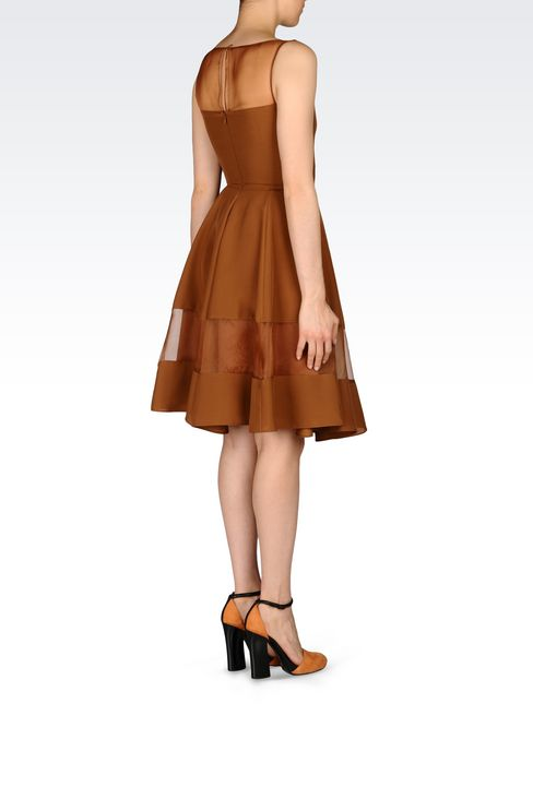 DRESS IN LIGHT CADY: 3/4 Length dresses Women by Armani - 4