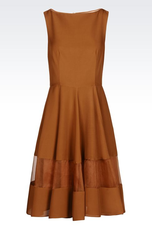 DRESS IN LIGHT CADY: 3/4 Length dresses Women by Armani - 1