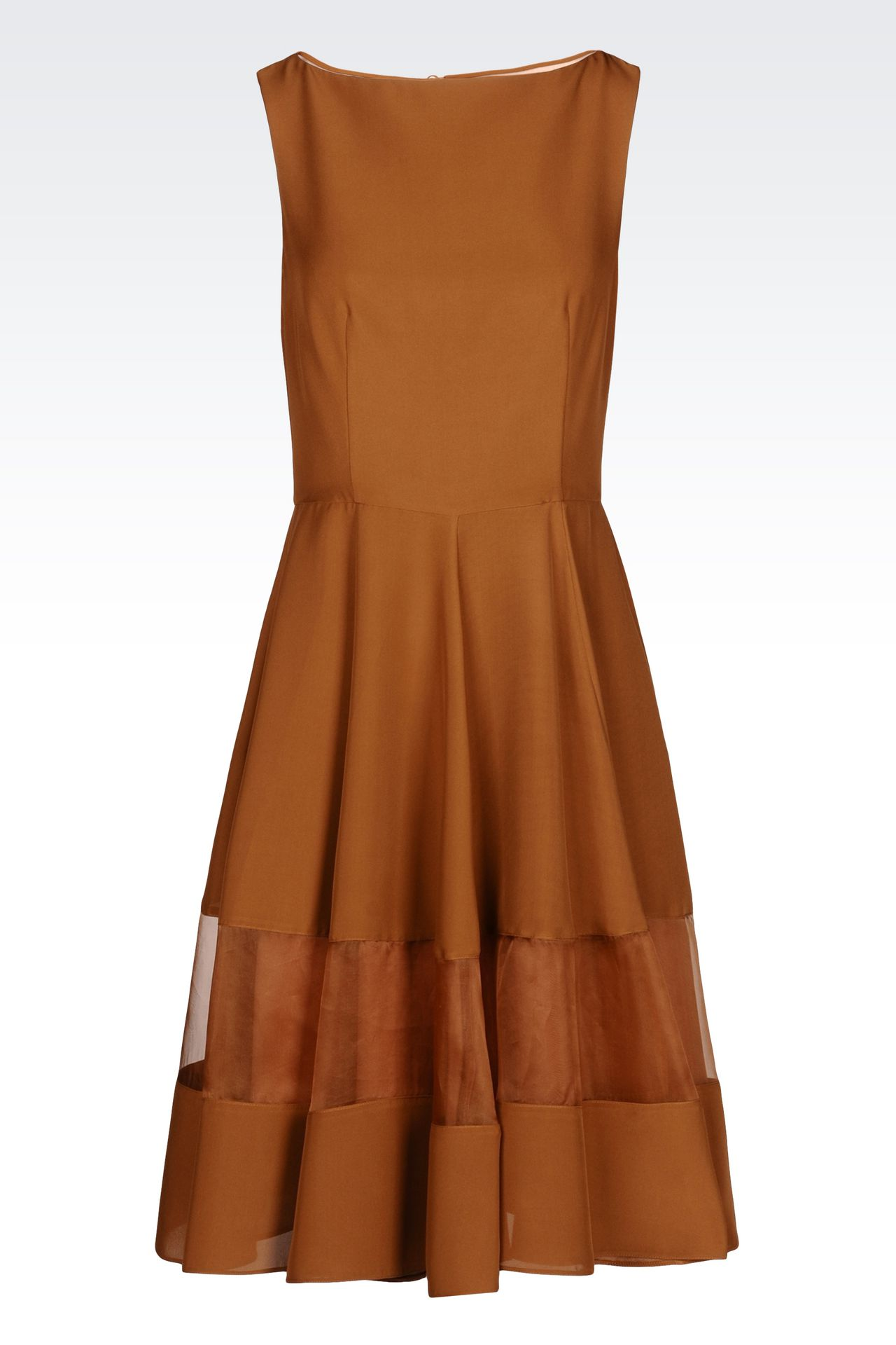 DRESS IN LIGHT CADY: 3/4 Length dresses Women by Armani - 0