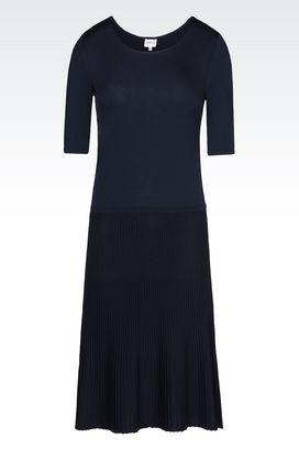 Armani Short Dresses Women plissé dress