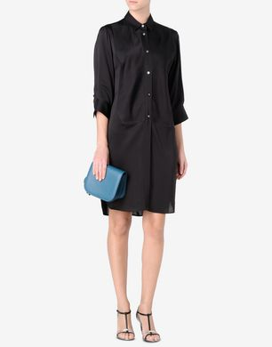 Maison Margiela Silk charmeuse shirt dress